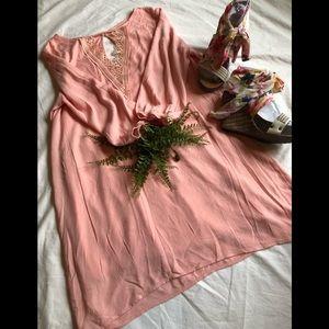 Sage brand pink 3/4 sleeve dress